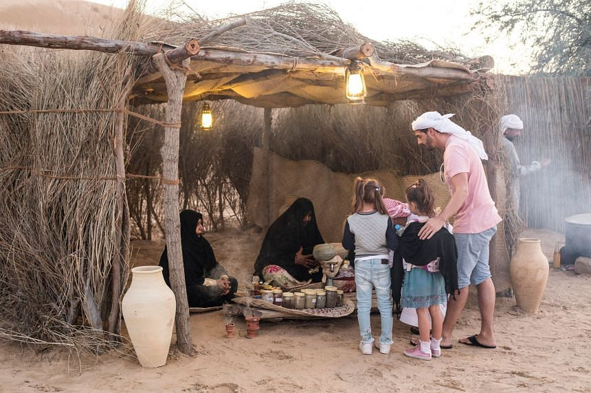 A stay at a bedouin camp involves  activities such as a henna painting lesson, camel rides, dressing up in Emirati costumes and an astronomy session under starry skies. PHOTO: TOURISM DUBAI