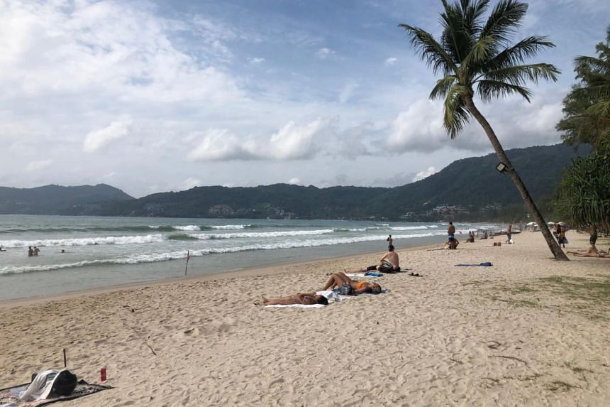 A photo taken on Sept 9, 2019 shows Karon Beach in Phuket during non-hazy conditions.