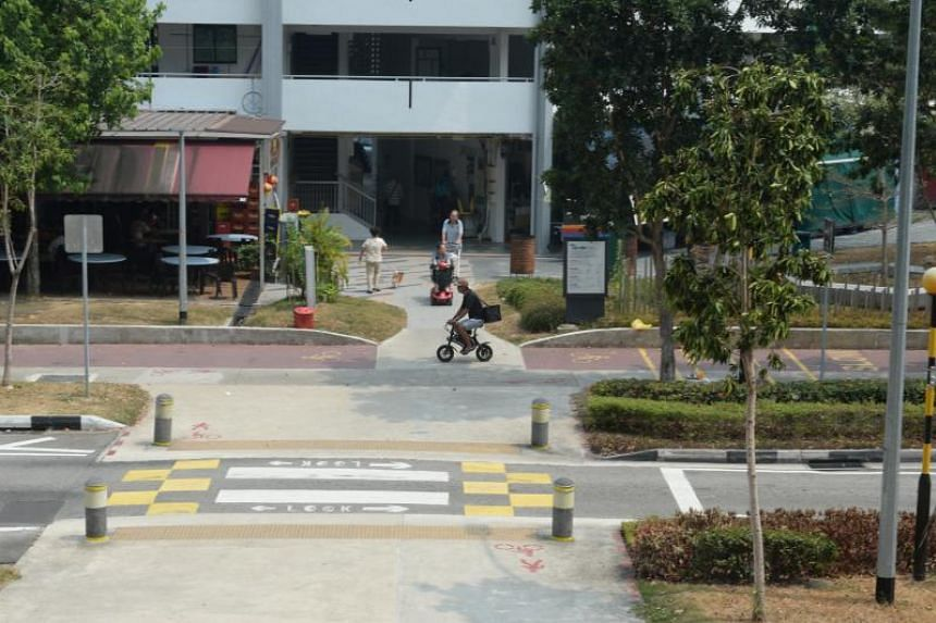 A view of the accident site at Bedok North Block 539.