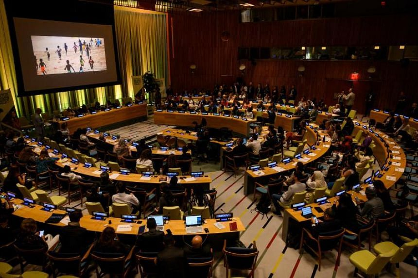 The Climate Action Summit at the first United Nations Youth Climate Summit in New York on Sept 21, 2019.