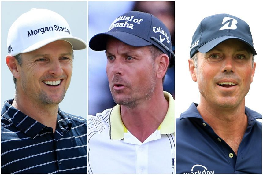 (From left) Justin Rose, Henrik Stenson and Matt Kuchar had won the gold, silver and bronze medals at the 2016 Rio Olympic Games.