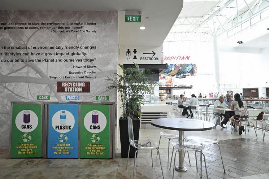 Since 2014, operators of large shopping malls have been tracking and submitting waste data and waste reduction plans to NEA.