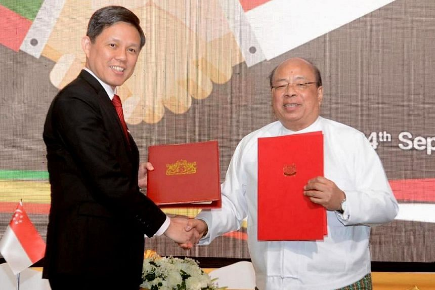 The treaty signed by Minister for Trade and Industry Chan Chun Sing and U Thaung Tun, Union Minister for Investment and Foreign Economic Relations, aims to promote greater investment flows between the two countries by giving investors greater certain