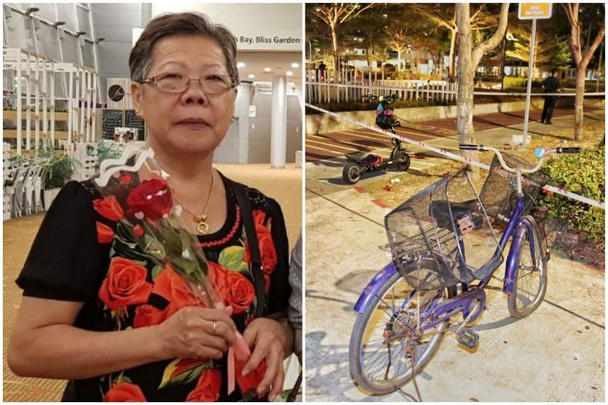 Madam Ong Bee Eng had been in a coma since she collided with a e-scooter while riding her bicycle in Bedok on Sept 21. A 20-year-old man was arrested after the accident.