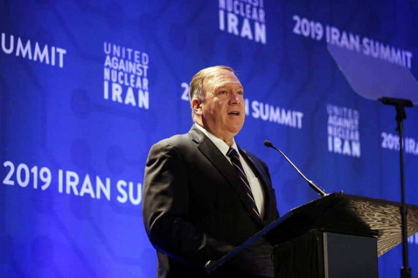 US Secretary of State Mike Pompeo delivers remarks during the United Against Nuclear Iran summit on Sept 25, 2019, in New York.