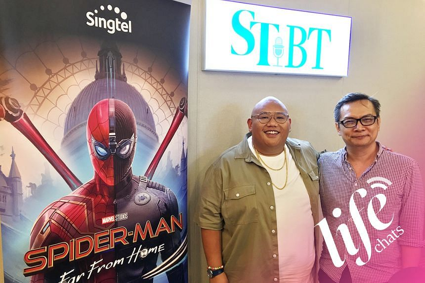 Jacob Batalon (left) of Spiderman joins The Straits Times on this episode of Life Chats, hosted by John Lui (right).