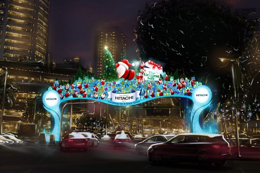 """An artist's impression of the light-up. Themed """"The Greatest Gift"""", the decorations will include Christmas staples such as Christmas trees and presents."""