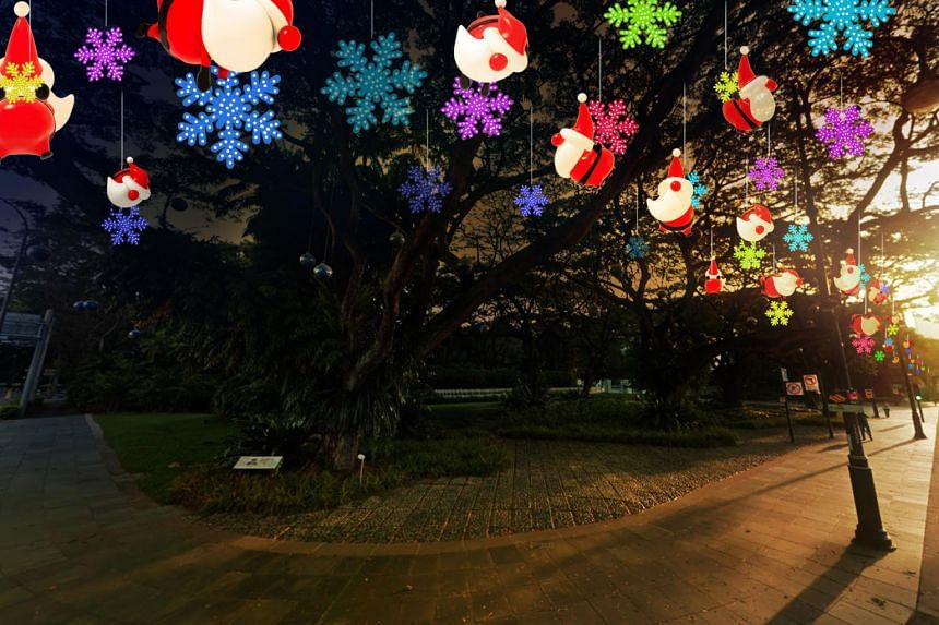 An artist's impression of the light-up. Santa Claus will be the mascot this year and will be featured heavily on the glittering archways and adornments lining the street.