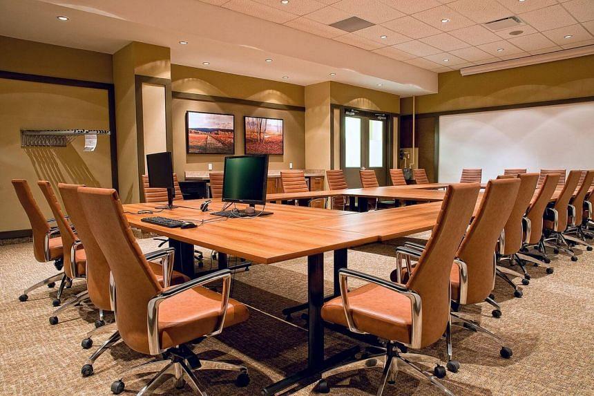 A boardroom.