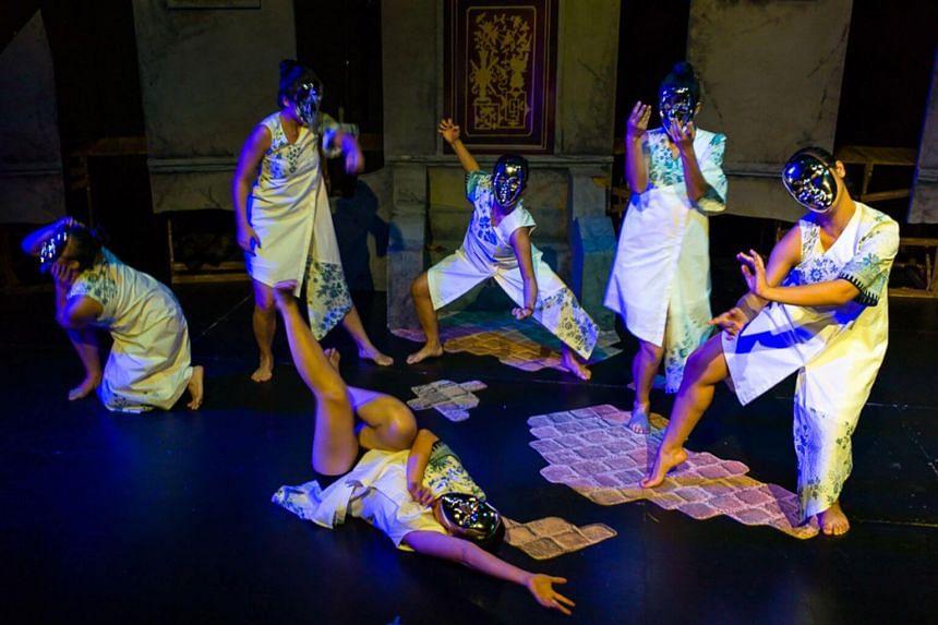 A scene from L'Arietta's production of Purgatory.