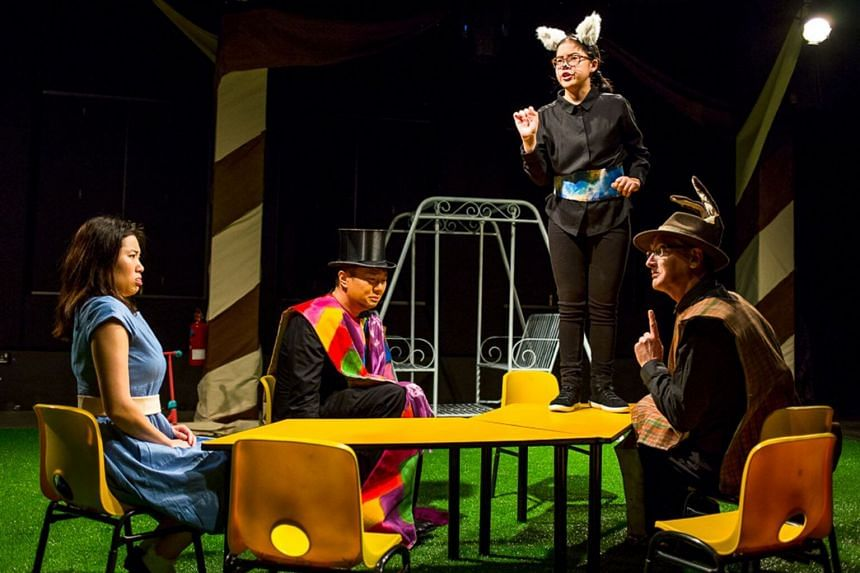 L'Arietta's family friendly production of Alice In Wonderland featured a bouncy castle for the kids to play in.