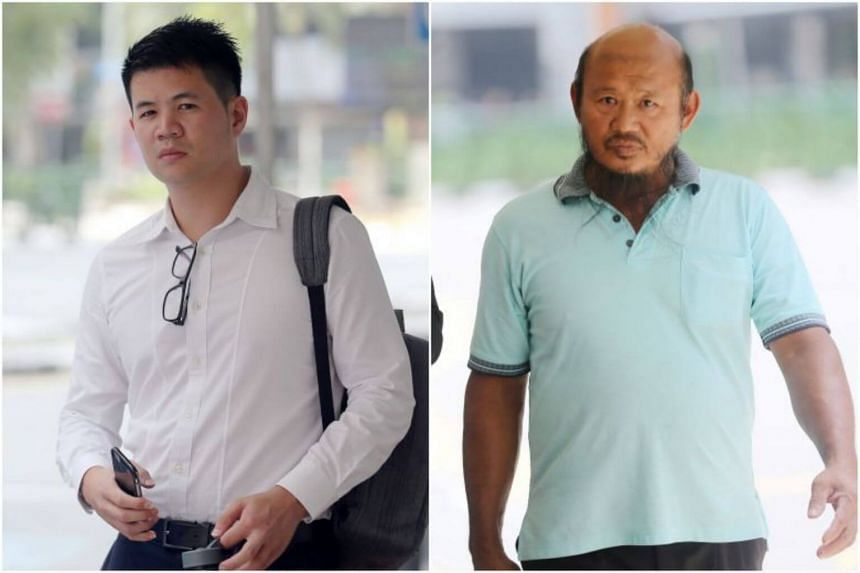 Teo Seng Tiong (right) was involved in an incident with cyclist Eric Cheung Hoyu at the junction of Pasir Ris Drive 3 and Pasir Ris Rise on Dec 22, 2018.
