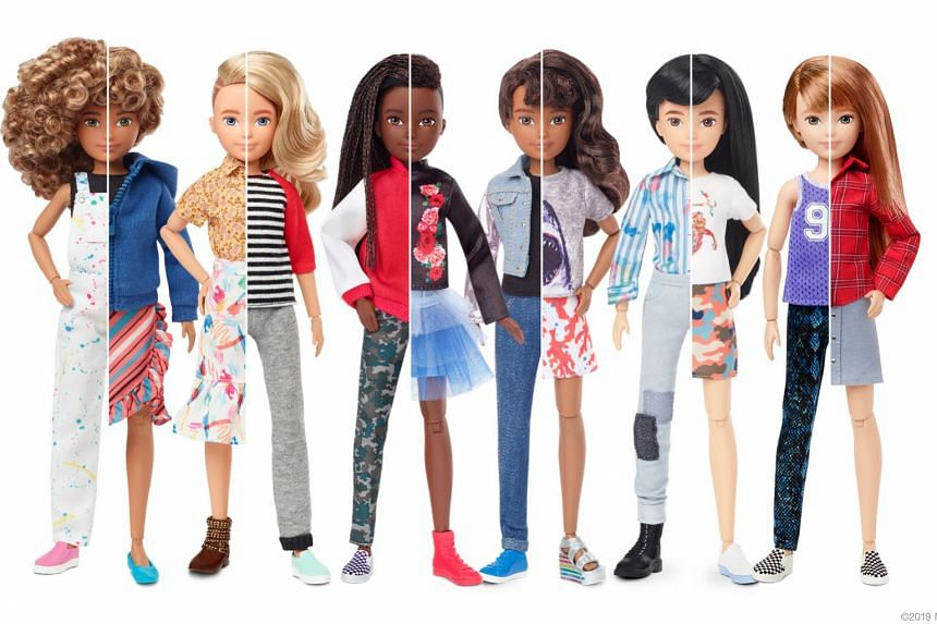 """Mattel's new line lets children create what the company calls """"gender inclusive"""" dolls."""