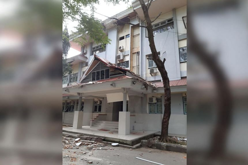 The quake struck about 37km offshore northeast of Ambon in Maluku province at 8.46 am local time, at a depth of 29km, said the US Geological Survey.