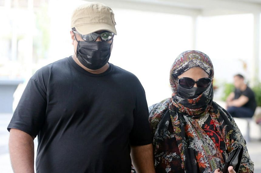 Singaporean Abraham Rock (left), 35, attempted to scam insurers of more than $3.7 million by declaring his mother died in a traffic accident in Pakistan.