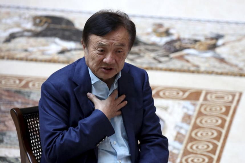In a photo taken on Aug 20, Huawei's founder Ren Zhengfei speaks during an interview. Ren said on Sept 26 that the company is willing to license its 5G mobile technology to a US company.