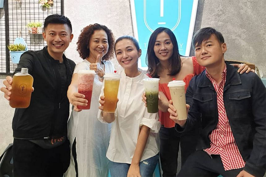 Called Teabrary, Vivian Lai's bubble tea shop is located in Esplanade Xchange and her star power and on-site presence have drawn queues.