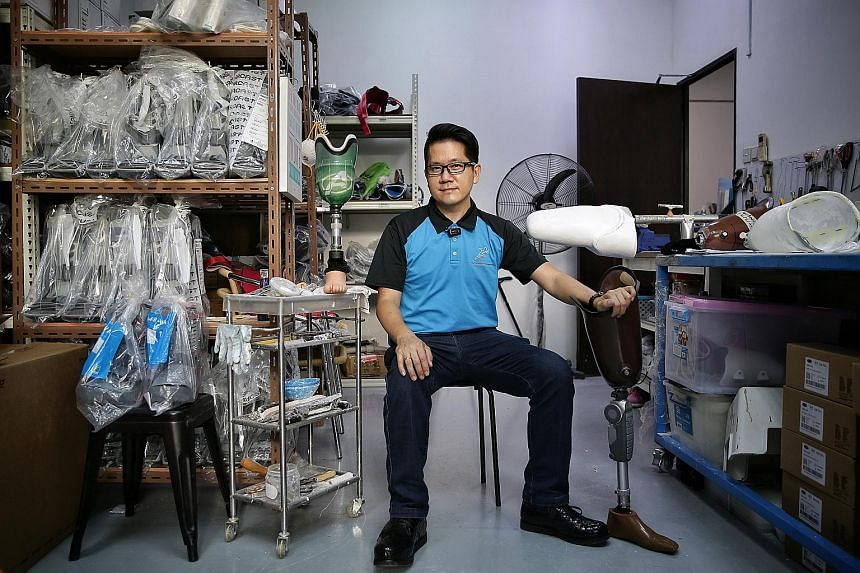 Mr Desmond Lim started The Prosthetic Company in 2016 because he felt that the variety of prosthetic and orthotic aids here was limited.