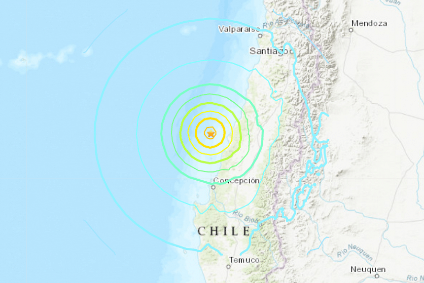 An earthquake of magnitude 7.2 struck off Chile's coast on Sept 29, the US Geological Survey said.