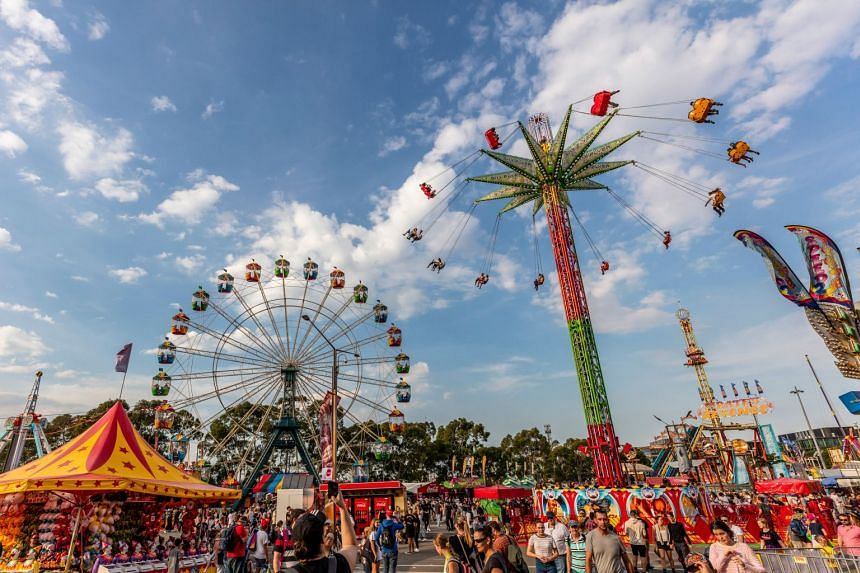 Carnival rides at the 2019 Sydney Royal Easter Show, Sydney Showground at Sydney Olympic Park. PHOTO: DESTINATION NSW