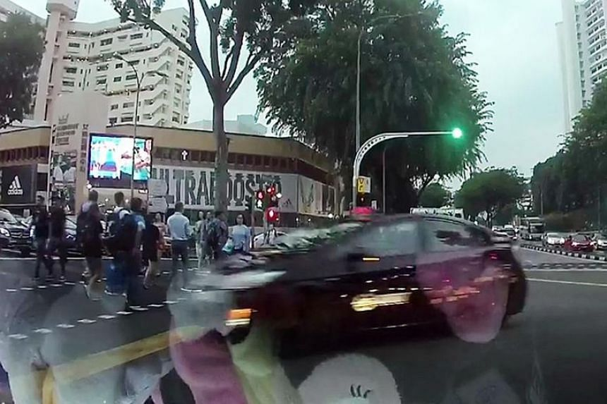 Cabby How Yuen Fah hit at least three pedestrians who were crossing the road at the junction of Jalan Bukit Merah and Alexandra Road on March 22.