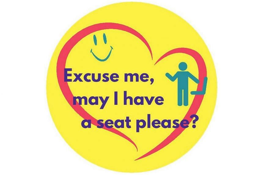 The sticker is part of a new Land Transport Authority pilot to cater to the needs of commuters with less visible medical conditions, such as chronic pain, heart disease and arthritis.