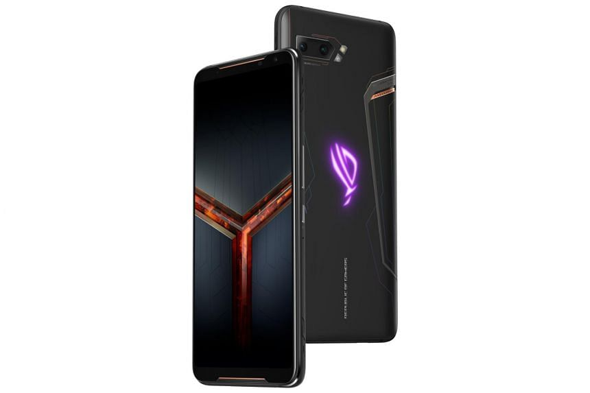 The ROG Phone II has two extra USB-C ports that are used for its gaming accessories.
