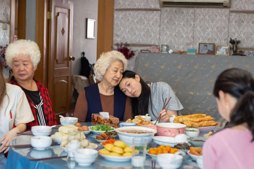 Stills from the movie The Farewell starring Awkwafina.
