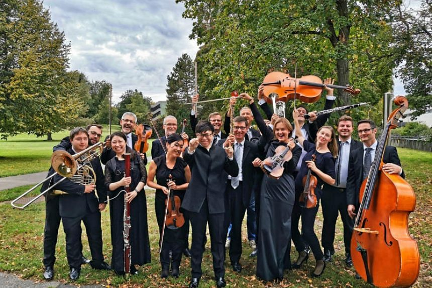 The Nuremberg Symphony Orchestra's chief conductor Wong Kah Chun (front centre) is in town with members of the orchestra.