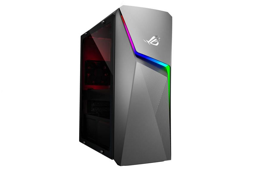 The Asus ROG Strix GL10CS gaming desktop is packed to the gills with high-end components such as an eight-core Intel Core i7 processor, 32GB of system memory and an Nvidia GeForce RTX 2070 graphics card.
