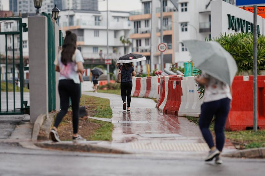 The weatherman expects rainfall in the first two weeks of October to be slightly above normal over most parts of Singapore.
