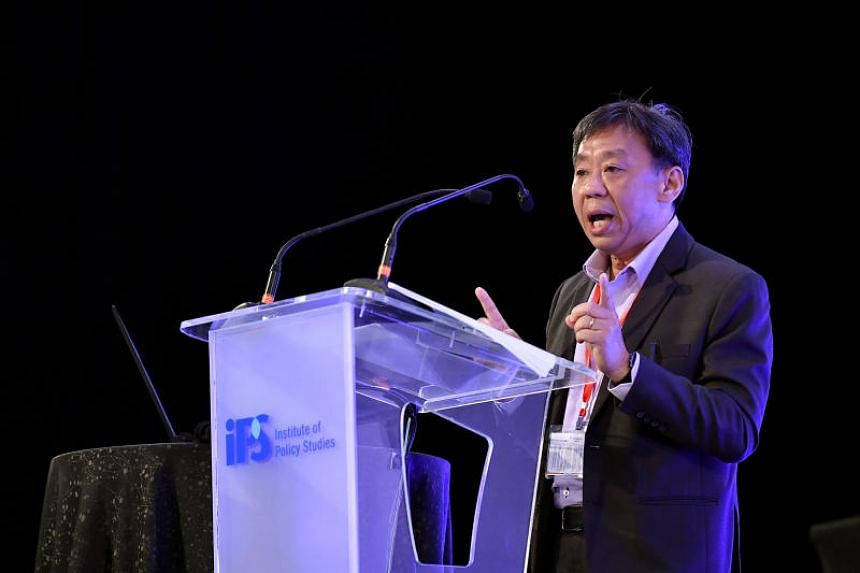 Yale-NUS College president Tan Tai Yong speaking at a panel discussion on the lasting impacts of decolonisation on Singapore during the Singapore Bicentennial Conference on Oct 1, 2019.