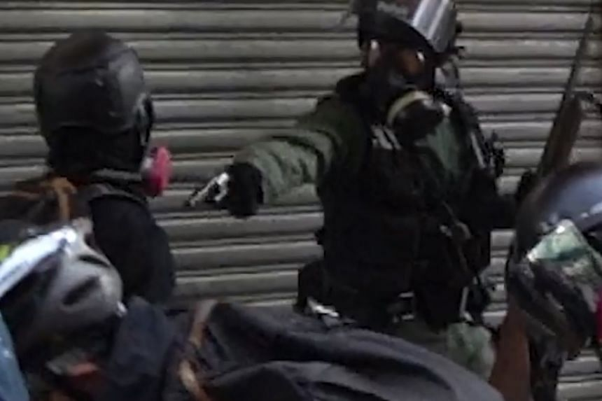 A screenshot from a video of the incident posted online.