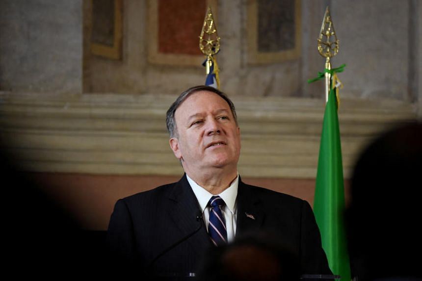 US Secretary of State Mike Pompeo speaks during a news conference in Rome, Italy, on Oct 2, 2019.