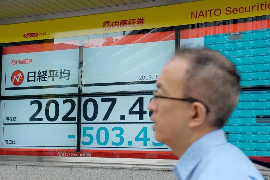 In Asia, MSCI's ex-Japan Asia-Pacific shares index dropped 0.32 per cent, with Australian shares falling more than 1 per cent. Japan's Nikkei slid 0.50 per cent.