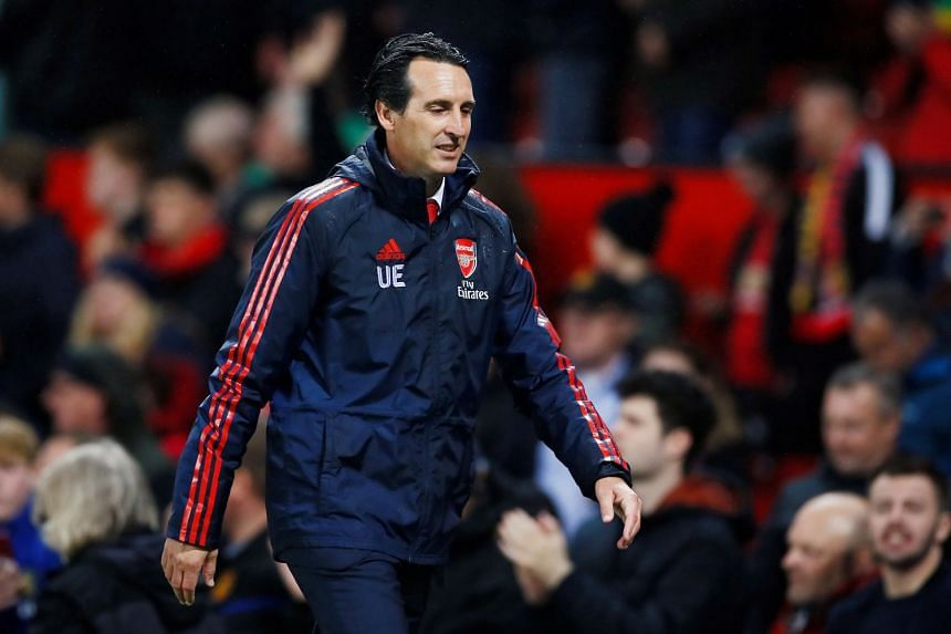 Arsenal manager Unai Emery at the end of the match against Manchester United.