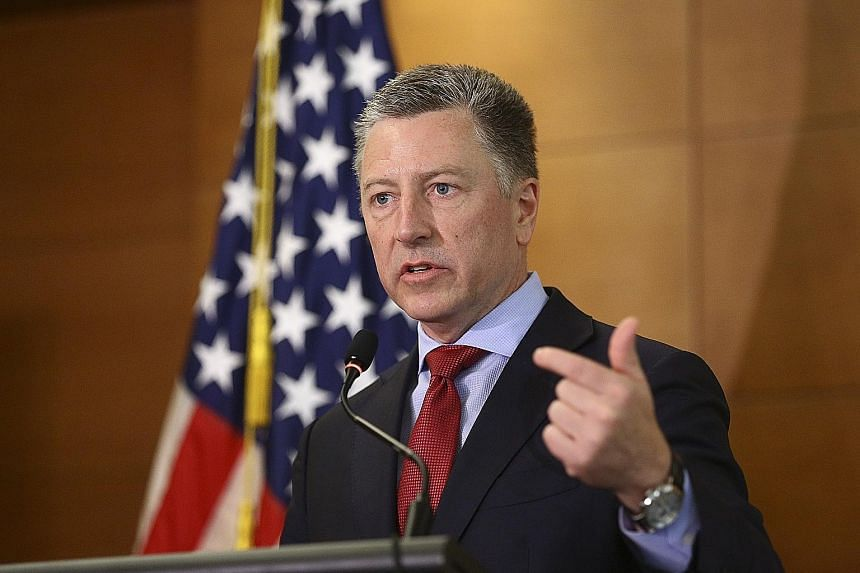 Mr Kurt Volker, who resigned last week as Mr Donald Trump's special representative for Ukraine, was to go to Capitol Hill to give a deposition to House staff today. PHOTO: EPA-EFE Ms Marie Yovanovitch, who was the United States ambassador to Ukraine