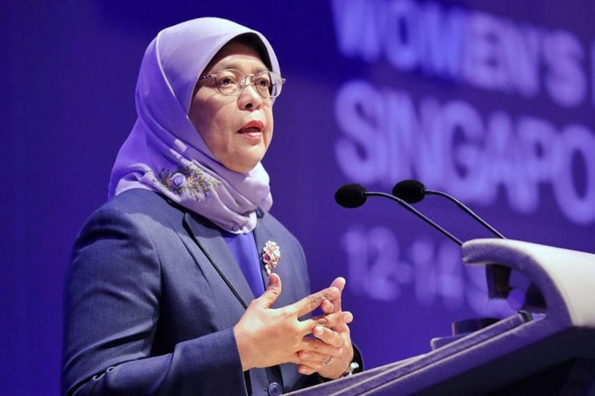 President Halimah Yacob said climate change is a problem of the future created by the actions of current and past generations.