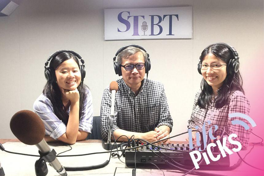 (From left) Food writer Eunice Quek, film correspondent John Lui and arts writer Toh Wen Li share their picks for the week on Life Picks.