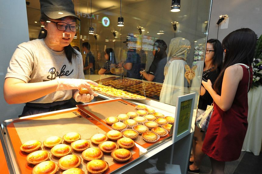 When Hokkaido's Bake Cheese Tart first opened in Ion Orchard (above) in 2016, fans queued for up to two hours to get their hands on the tarts. Sister brand Croquant Chou Zakuzaku will take over the shop space and offer Croquant Chou and soft-serve