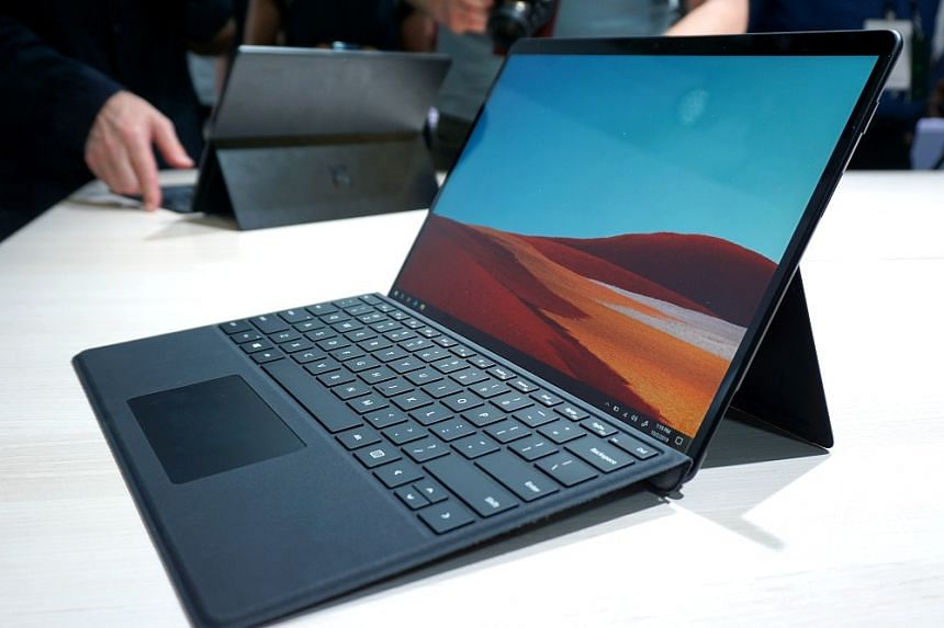 The Surface Pro X comes with a new Type Cover keyboard and an optional Surface Slim Pen. ST PHOTO: VIJAY ANAND