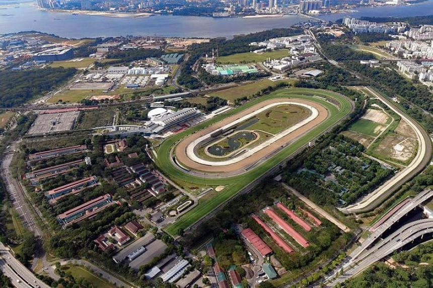 An aerial view of the Singapore Turf Club, which sits on land about the size of 166 football fields.