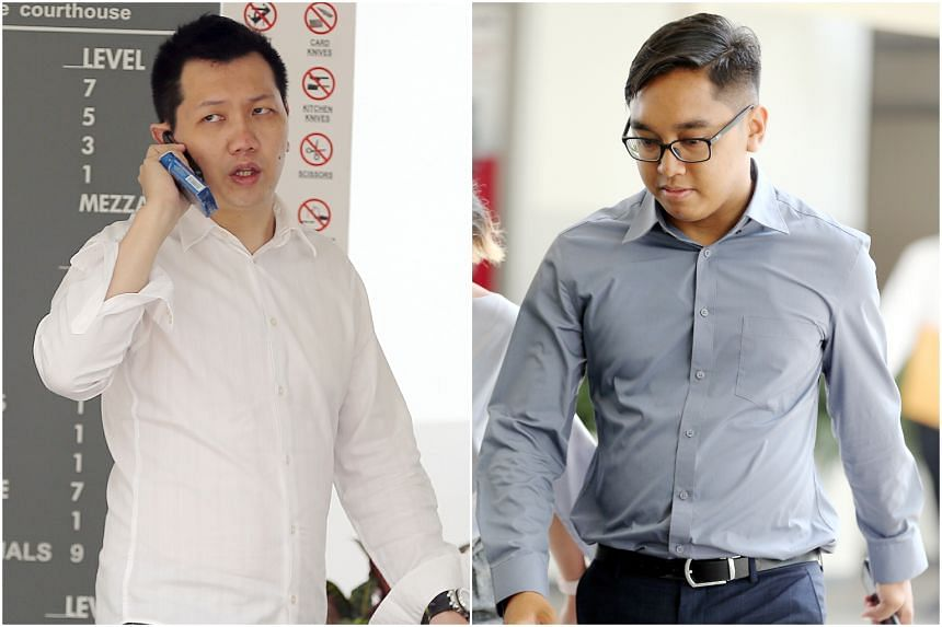 The court heard that Staff Sergeant Khairulanwar Abd Kahar (right) had stopped the Maserati in Bedok Reservoir Road as Lee Cheng Yan (left) was not using his seat belt.