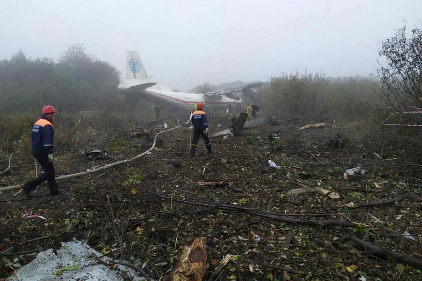 Five dead in Ukraine after chartered plane crashes