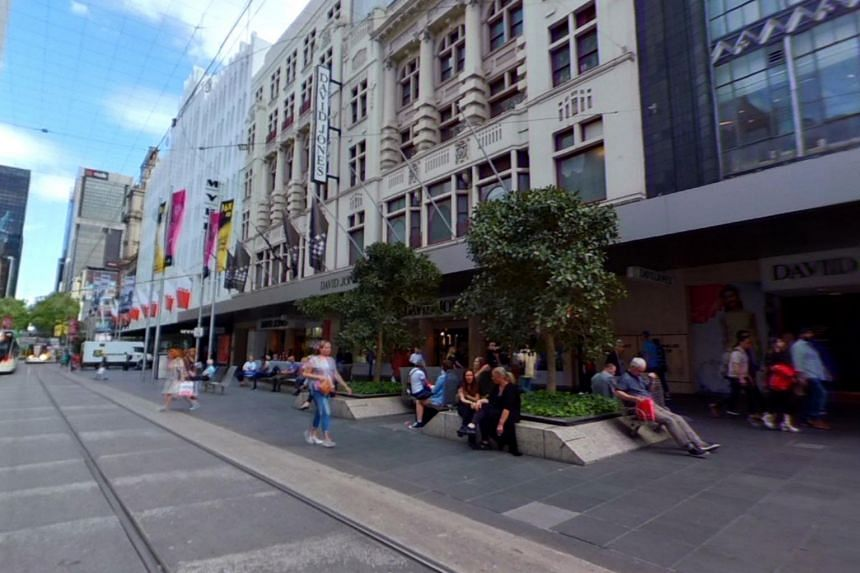 The ban includes footpaths, tramways and roads in the Bourke Street Mall area, between Elizabeth Street and Russell Place.