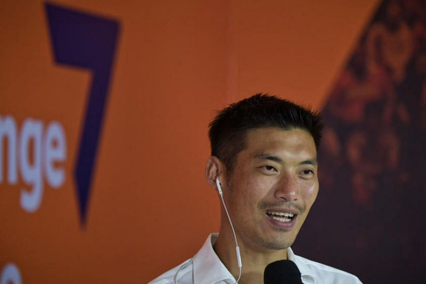 In a photo taken on Mar 24, 2019, Future Forward Party leader Thanathorn Juangroongruangkit speaks to broadcast media at the party's headquarters.