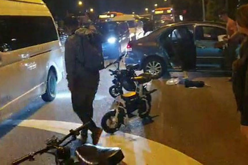 The accident happened at the junction of Ang Mo Kio Avenue 1 and Avenue 10 at 10.30pm on Oct 2, 2019.