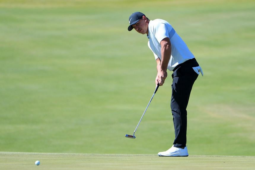 Brooks Koepka said stem cells were injected into his knee the day after the Tour Championship in late August.