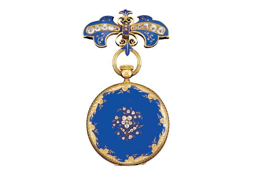 Dr Peter Friess, curator of the Patek Philippe Museum in Geneva, played a key role in choosing the more than 400 timepieces on show at the exhibition. Below: The watch acquired by Queen Victoria at the World Exhibition in London in 1851 is on display