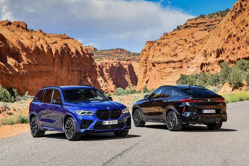 The third generation of BMW's M-configured X models is out. The X5M Competition (left) and X6M Competition (right) each make 625hp and 750Nm with a highrevving turbocharged 4.4-litre V8.